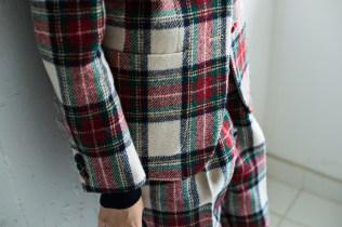 ノーカラージャケットの腰ポケットにはカジュアルなアウトポケット|lifestyleorder