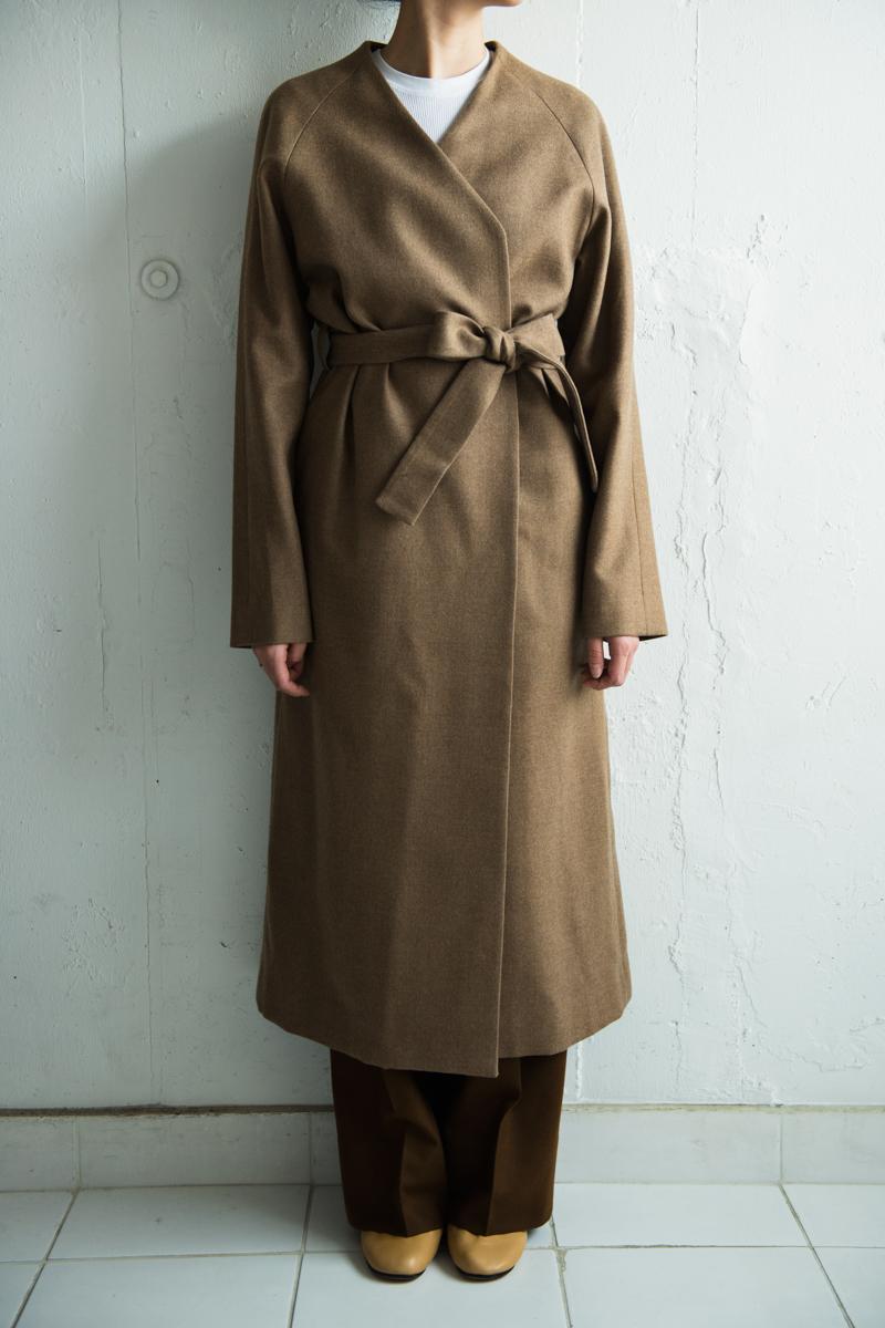 共布ベルトで調整するガウンコートスタイルのオーダーメイド|lifestyleorder