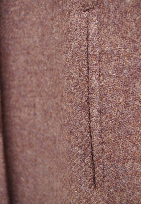 ハリスツイードコート,玉縁ポケット