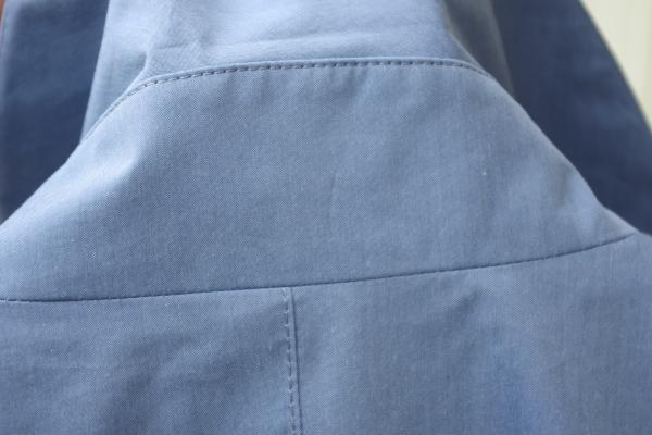 ステンカラーコート|衿腰