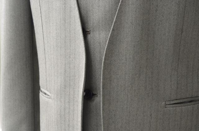 ノーカラースーツ|ボタンレス