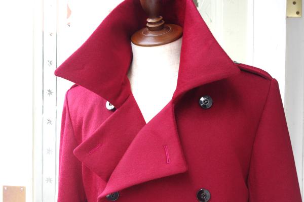 オーダーメイドコート|カシミヤ赤色