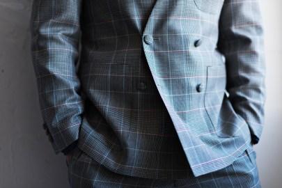 デニムウエディング|ノーカラースーツ