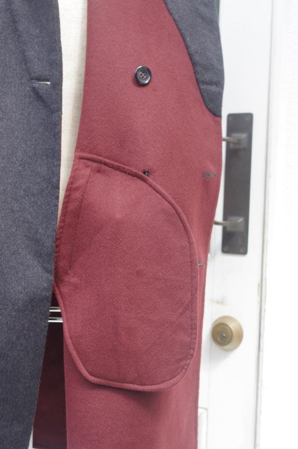 カシミヤダブルフェイスコート,袋布