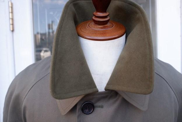 モールスキン替え衿,ステンカラーコート