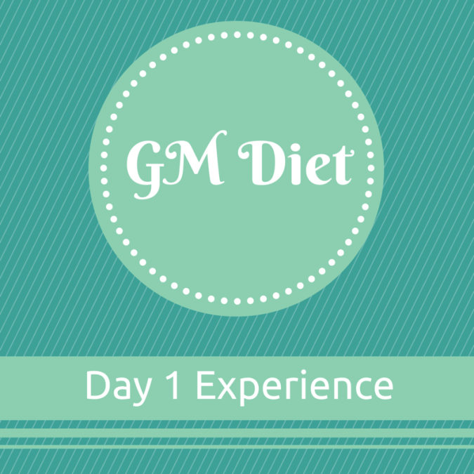 Vegetarian Indian GM Diet Day 1