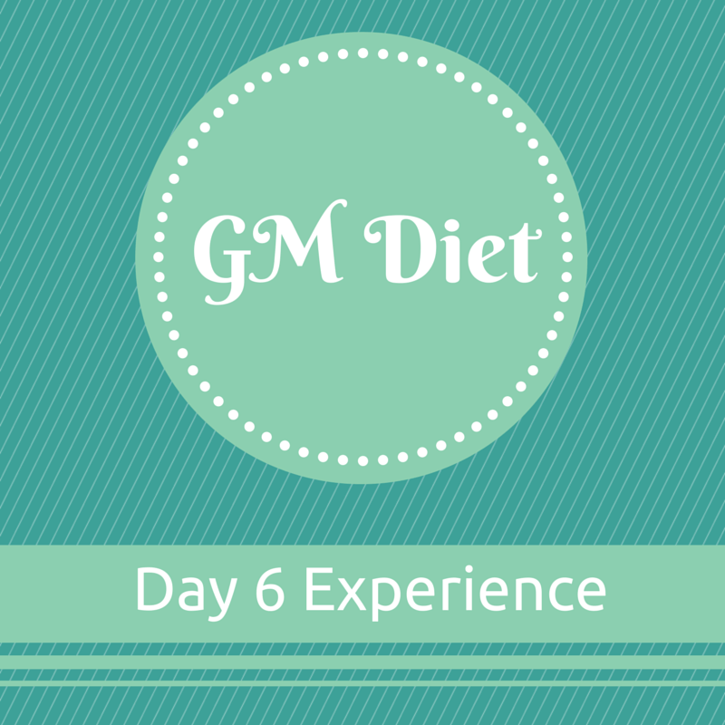 Vegetarian Indian GM Diet Day 6 : My Experience