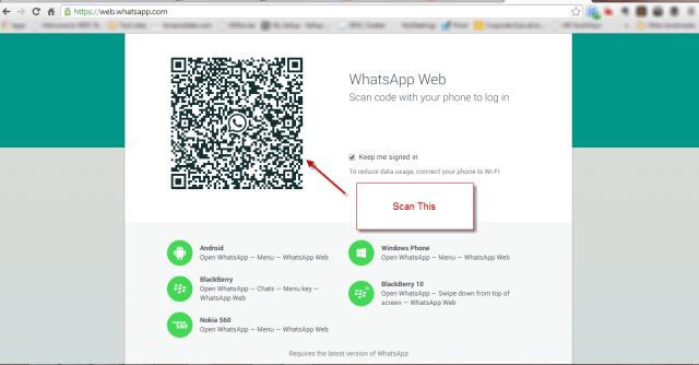 WhatsApp for Web QR Code