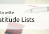 How to write Gratitude Lists
