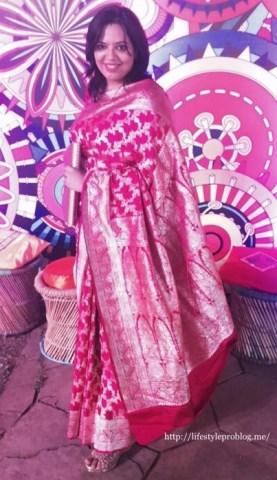 Ankita Pink Sari
