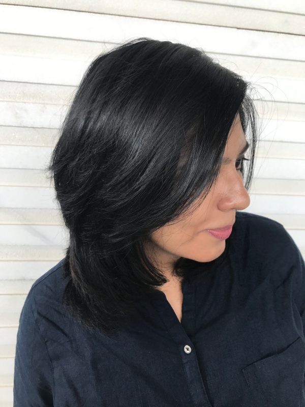 Blue Black Hair with BBlunt Salon Secrets High Shine Creme Hair Colour