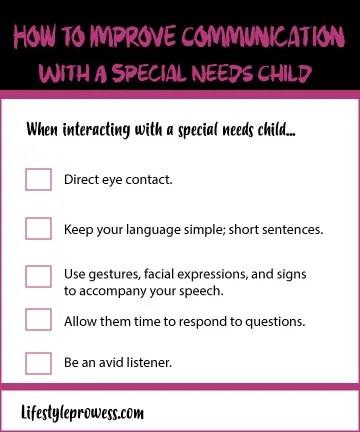 How to Improve Communication With Special Needs Child Tips and Suggestions
