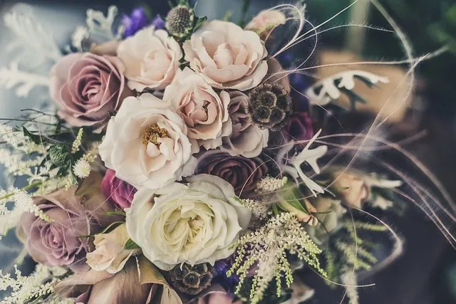 Picture with roses of a bouquet