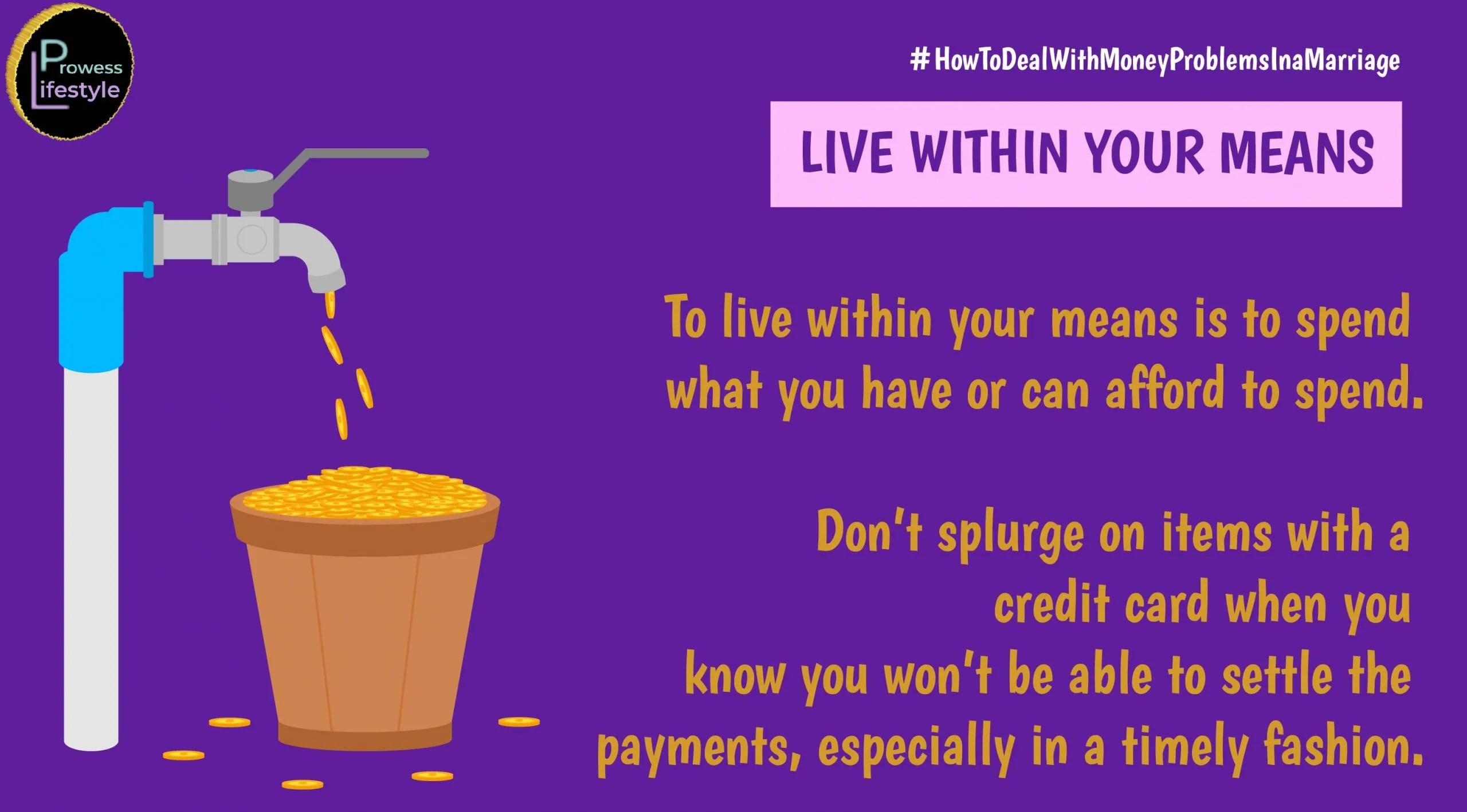 LIVE WITHIN YOUR MEANS - Money problems in a marriage