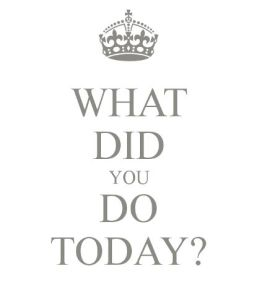 what did y do today?