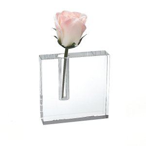 Badash Crystal The Block Handcrafted Crystal Bud Vase 6x6 inches - H216