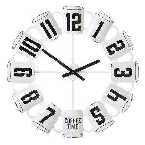 CBK Inspired Home Enamel Coffee Cup Wall Clock - 158426