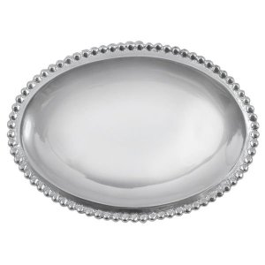 Mariposa Beaded Oval Statement Tray