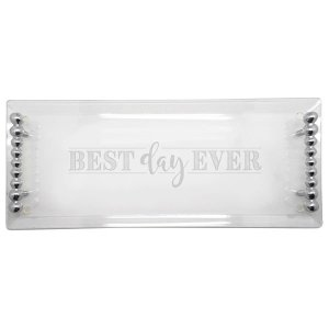Mariposa Best Day Ever Pearled Acrylic Tray