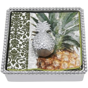 Mariposa Pineapple Beaded Napkin Box