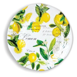 Michel Design Works Lemon Basil Large Round Platter SWPRL8