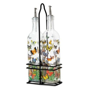 "Michel Design Works <a href=""https://lifestylesgiftware.com/product/michel-design-works-papillon-oil-and-vinegar-cruet-sets/"" target=""_blank"" rel=""noopener noreferrer"">Oil and Vinegar Set</a>"