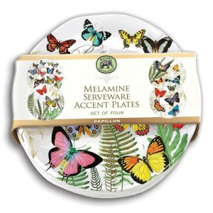 Michel Design Works Papillon Accent Plate Set Of 4 SWPS298