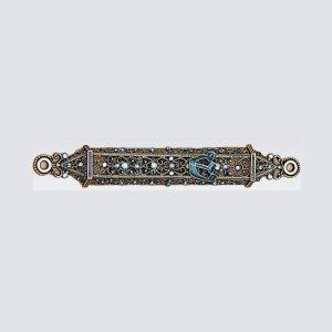Tizo Design Blue Jeweltone Mezuzah RS375BMZ