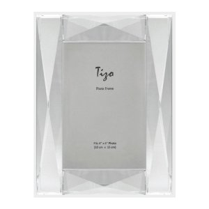 Tizo Design Diamond Beveled Crystal Glass Picture Frame PH2200