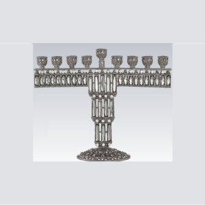 Tizo Design Jeweltone Tiffany Clear Menorah RS349CS