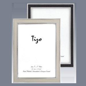 Tizo Design Shagreen Black Silverplate Frame 1030BLK