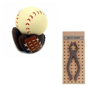 Baseball Stress Ball & Metal Pliers Tool Theme Bottle Opener