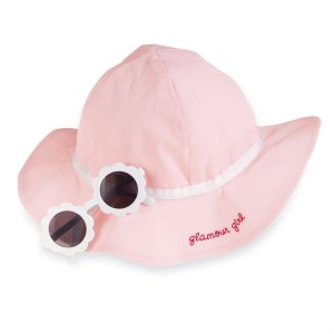 Pink Sunglasses and Hat Set