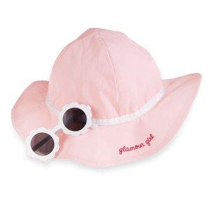 Pink Sunglasses and Hat Set