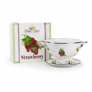 strawberry colander gift set golden rabbit
