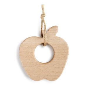 "Demdaco <a href=""https://lifestylesgiftware.com/product/demdaco-apple-natural-wood-teether/"">Apple Natural Wood Teether</a>"