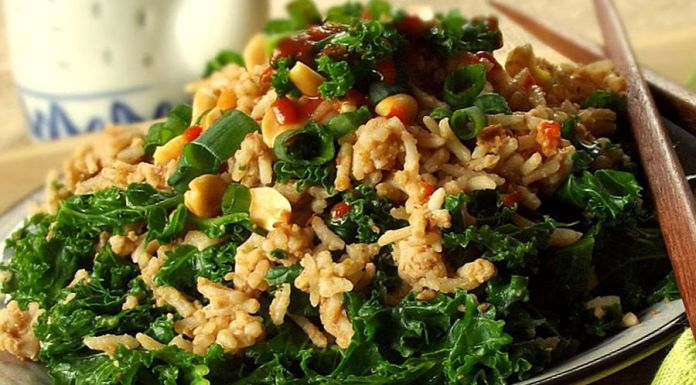 Sunflower rice salad