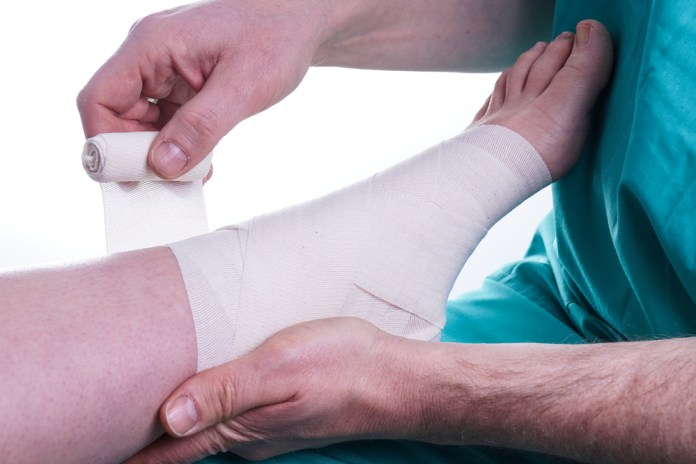 Sprained Foot, ankle injury fixed by Doctor