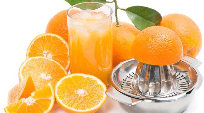 फ्रेश संतरे का जूस