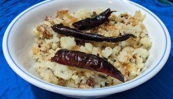 Rice flour upma or Udhiri Upama. Thanks for Sajna in Bigg Boss 3 Malayalam for mentioning the recipe