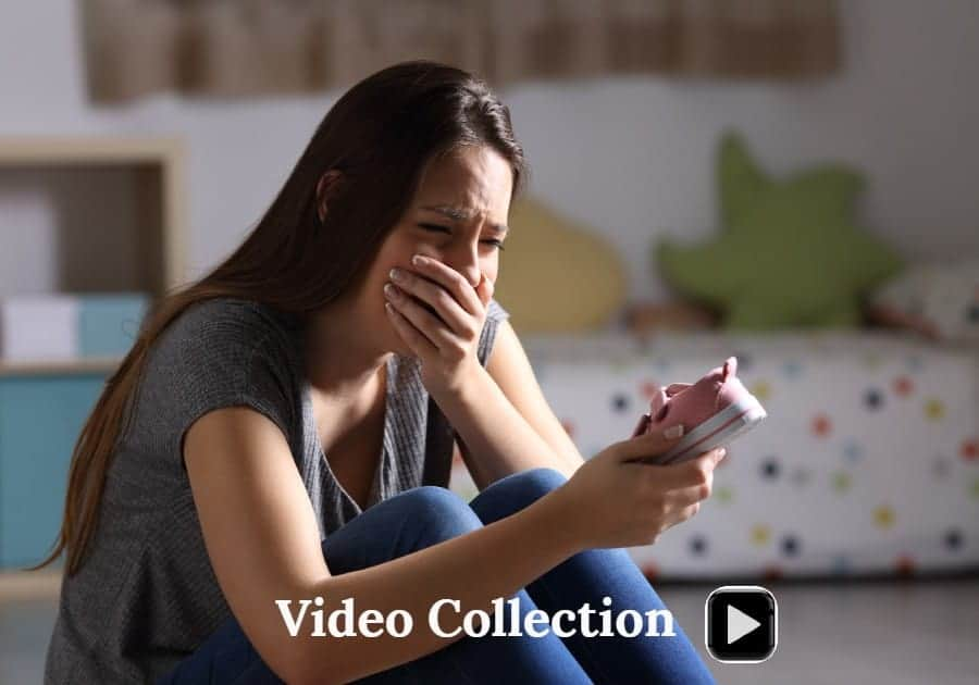 Cover of a discussion video about grief experiences the loss of a child