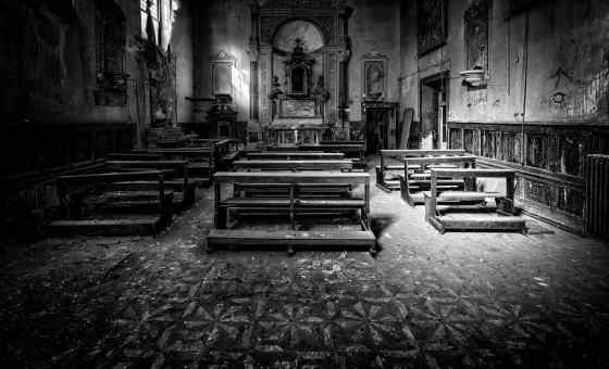 Empty church showing a lack of engagement