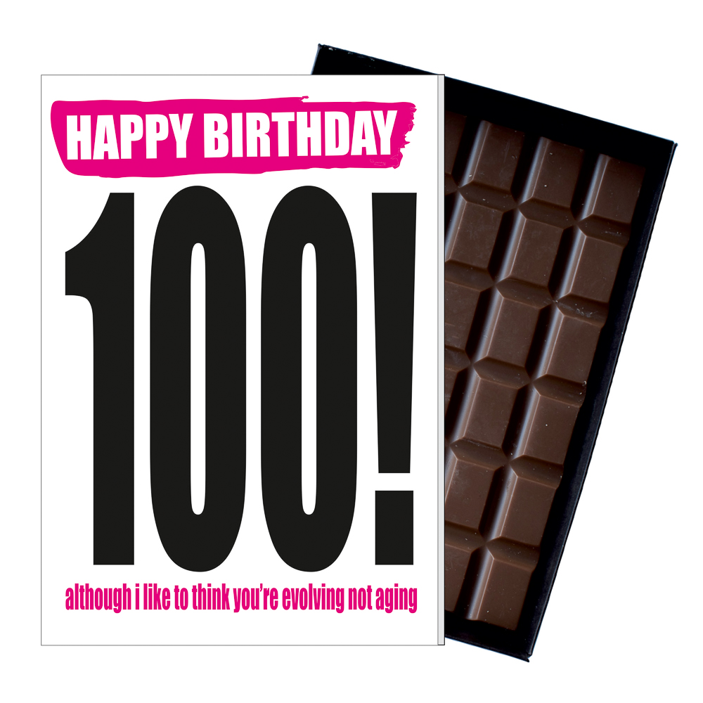 Funny 100th Birthday Gift Rude Naughty Present For Him Or Her 85g Chocolate Card Iyf121 Life S Wicked