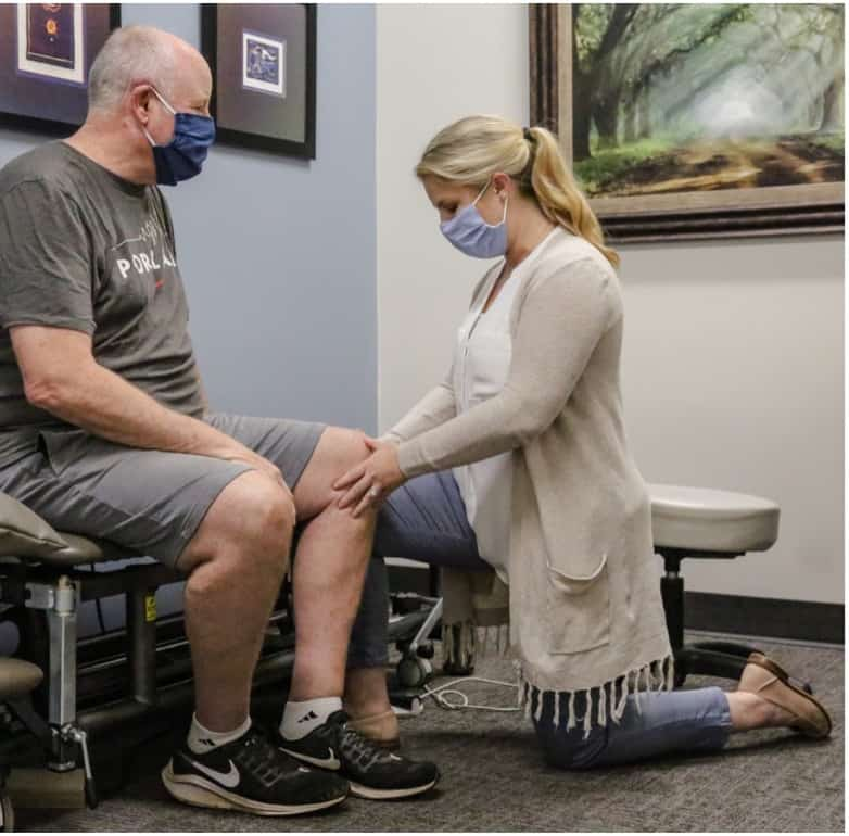 Physical Therapist evaluating a new patient.