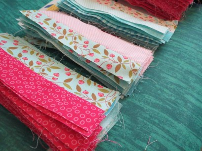 Pressed fabric strips