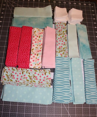 Fabric Cut for Pins and Stripes