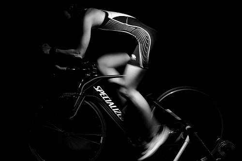 athlete on a bicycle
