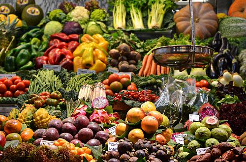 Farmer's Market with Produce