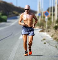 Man running in the summer