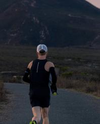 Man in shorts running